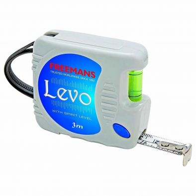 MEASURING TAPE LEVO FREEMAN 3 MTR WITH SPIRIT LEVEL  WS0011