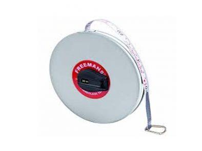 FIBRE GLASS LEATHERETTE MEASURING TAPE -FREEMAN 30 MTR-WS0138