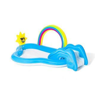 Bestway 53092 Rainbow Shine Pool and Play Center Amusement Park Equipment