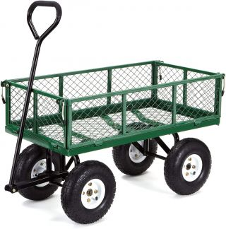 BKR® Steel Garden Cart with Removable Sides