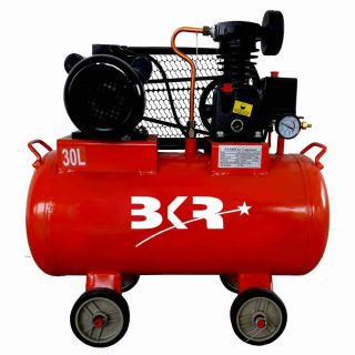 BKR® Iron Portable Air Compressor with Induction Motor (with Motor, 30 LTR)