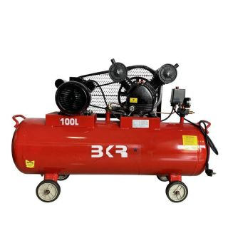 BKR® Portable Air Compressor 100 Liter Of Capacity With Induction Motor