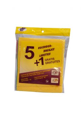 Cleaning Microfiber Wipes 5+1 Pcs HM0181