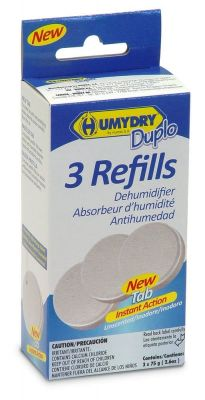 Humydry Duplo Moisture Absorber 3 Refill Pack Unscented 75g
