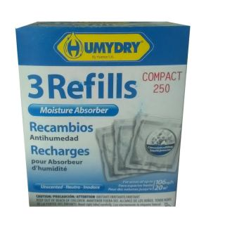 HUMYDRY Moisture Absorber Refill 3 Pack 250 GM - HM0229