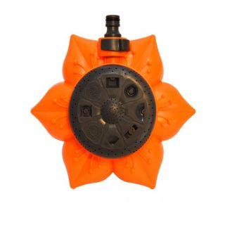 Garden Sprinkler Flower Type Orange Black Design LG0090
