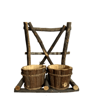 BKR® wooden Pots Showpiece stand LG0669